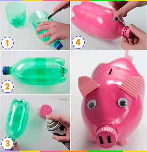 como hacer una alcancia con vasos plasticas manualidades con pet o envases y botellas de pl 225 stico