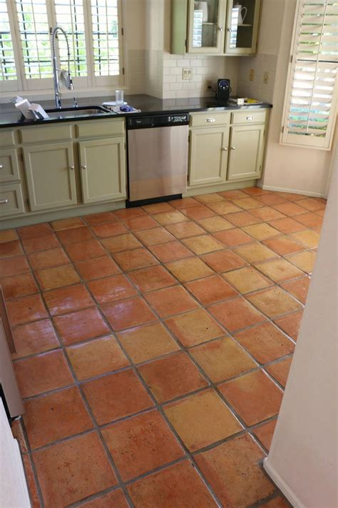 floor ideas for kitchen dusty coyote stripping and sealing a saltillo tile floor