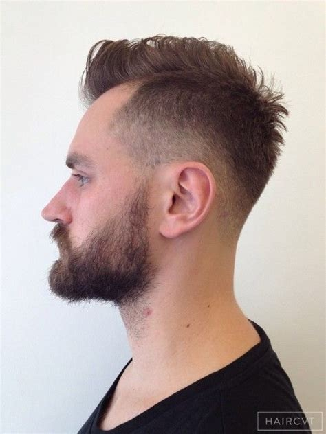 undercut fade hairstyle men undercut high top fade disconnection quiff hairstyle