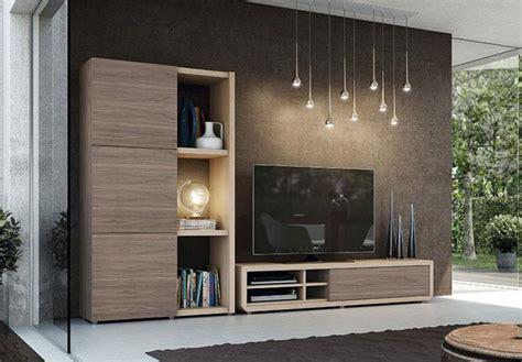 modern natural wall storage system  tv unit  tall