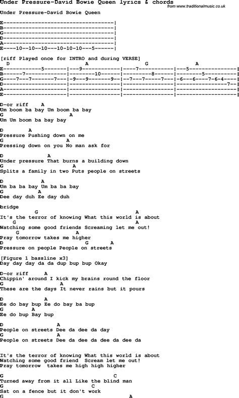 lyrics david bowie song lyrics for pressure david bowie with