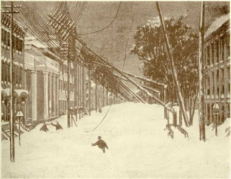 the great blizzard of 1888 blizzard 1888 fallen wires
