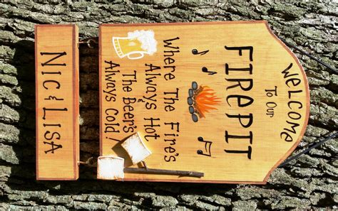 Firepit Signs Welcome To Our Pit Firepit Sign Bonfire By Creativedesigns77