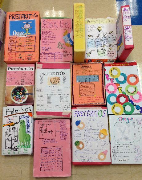 biography project spanish pret 233 ritos cereal boxes cool lenguaje pinterest