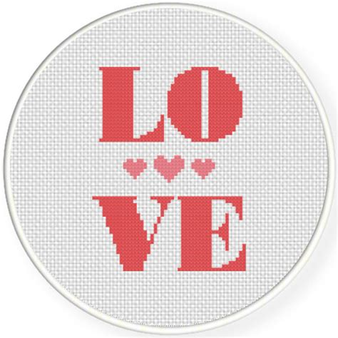 heart pattern for cross stitch love with heart cross stitch pattern daily cross stitch