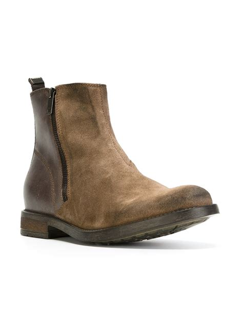 boots s diesel d anklyx ankle boots in brown for lyst