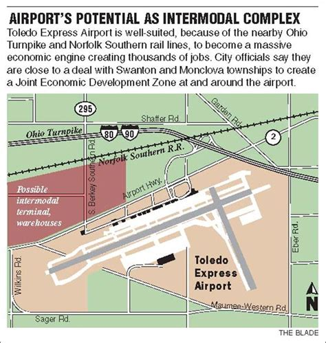 toledo express airport overhaul could boost area as shipping hub toledo blade