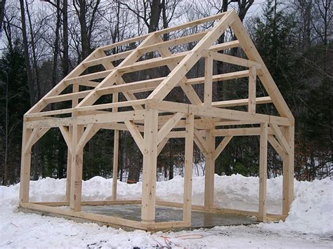 timber frame shed things to build beams