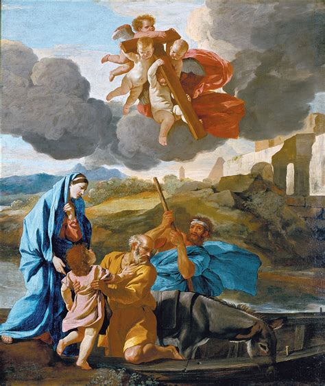 painting for file poussin nicolas the return of the holy family from project jpg