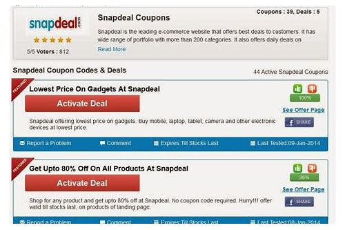 snapdeal promo/coupon code generator