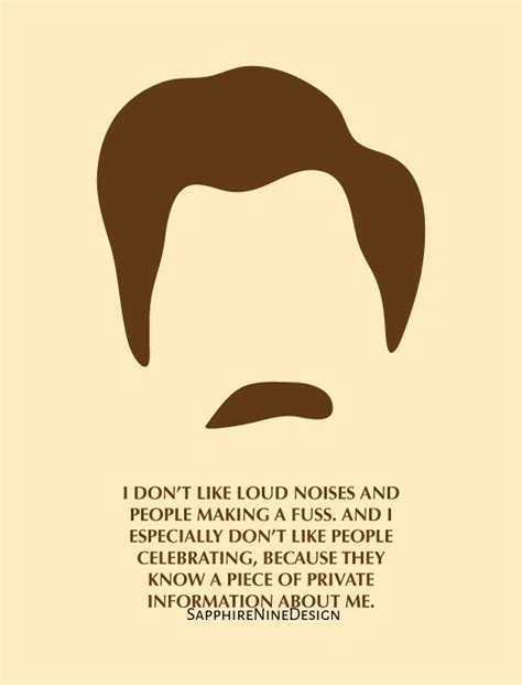 Swanson Birthday Quote Parks And Rec Ron Swanson Birthday Card By
