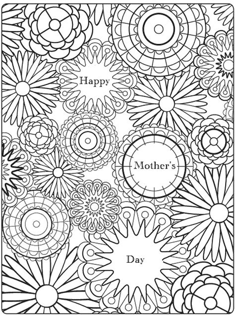 art therapy coloring page mothers day
