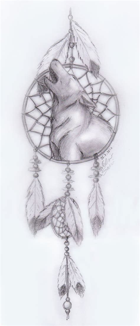 wolf and dreamcatcher tattoo designs howling wolf dreamcatcher tattoos