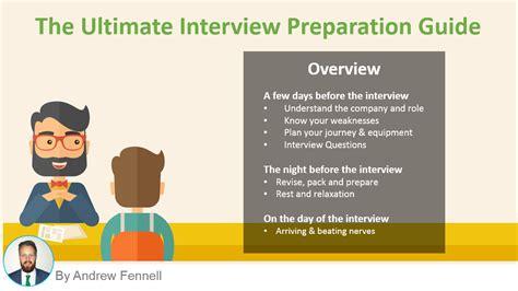 prepare   job interview  ultimate guide