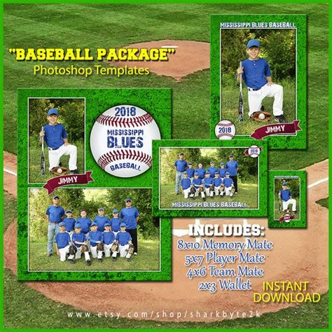 124 Best Photoshop Templates Designs Images On Pinterest Card Patterns Card Templates And Baseball Photo Templates Photoshop
