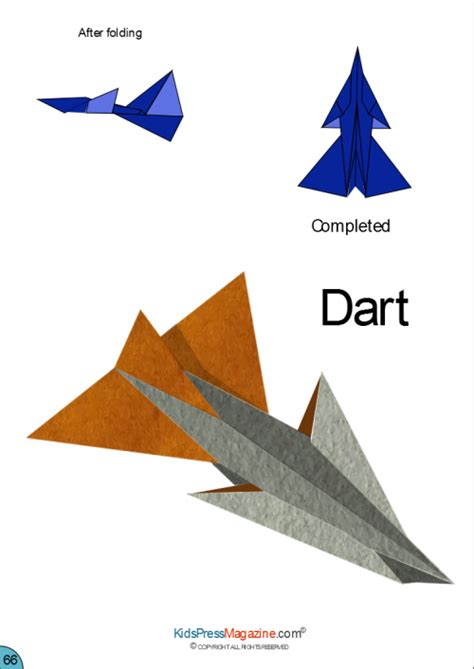 Origami Model Airplanes - paper airplane dart airplanes darts and