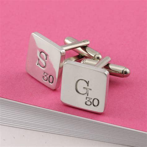 scrabble cufflinks personalised scrabble style pewter cufflinks by multiply