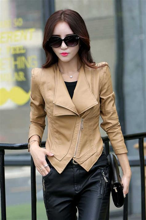 Style Korea Leather Jaket 52 2015 korean coat style leather jacket slim biker zipper leather jackets jaquetas de