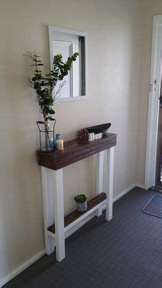 narrow hallway decor solution cut  table