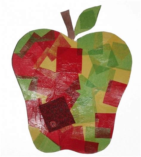 Apple Paper Craft - apple crafts tissue paper apple for a high gloss finish