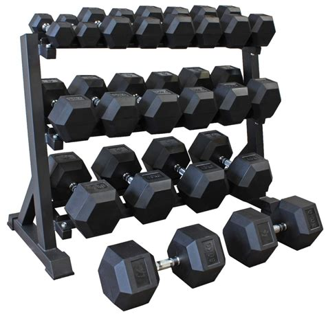 Dumbell 1 Set Hex Dumbbell Set 5kg 50kg 10 Pairs