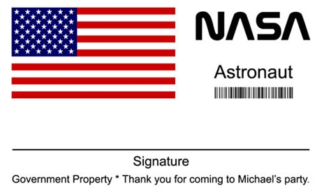 Nasa Id Card Template by Nasa Name Badge Pics About Space