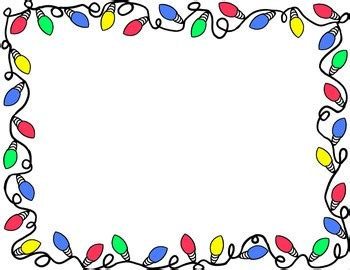 blinking christmas lights border free free clipart borders printable clipart panda free clipart images