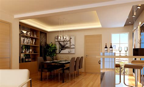 bar in dining room home dining room and bar room rendering download 3d house