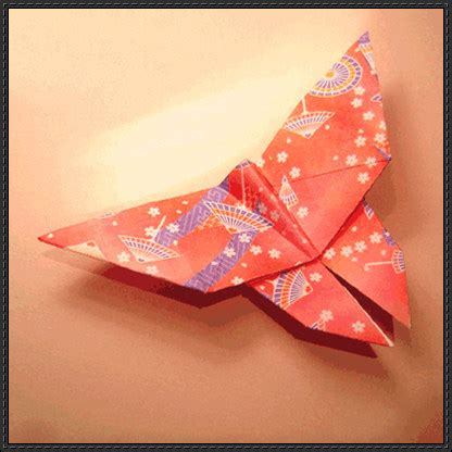 Origami Butterfly Tutorial - tutorial papercraftsquare free papercraft