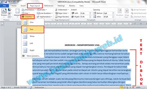 format membuat ulasan artikel membuat format layout majalah koran di microsoft word