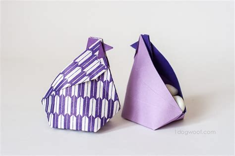 Origami Treat Box - o is for origami hen treat boxes a z craft month one