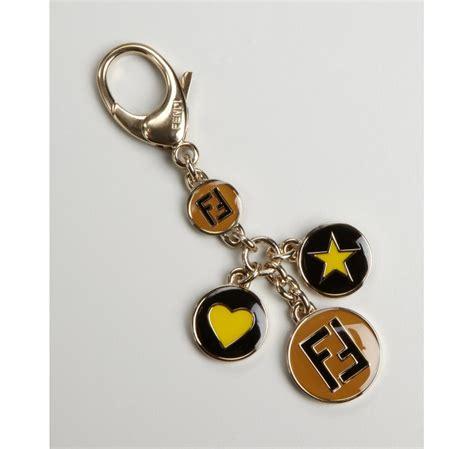 Logo Charm Keychain by Fendi Gold Logo Charm Keychain In Gold Lyst
