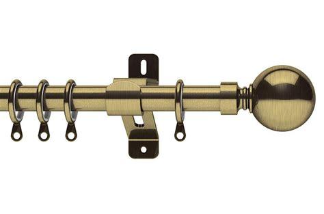 Belgravia Curtain Pole swish 35mm elements belgravia antique brass metal curtain pole