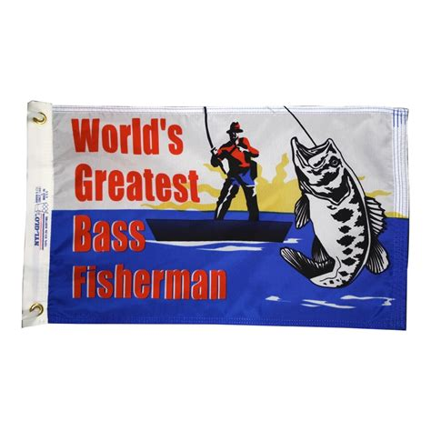 boat novelty flags bass fisherman flag