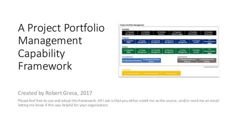 Portfolio Management Mba Project Free by A Project Portfolio Management Capability Framework