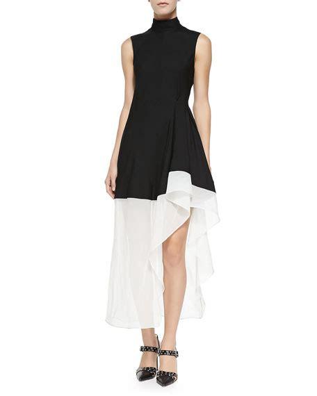 2 Tone Asymetric Dress by Theory Dexas Two Tone Asymmetric Dress