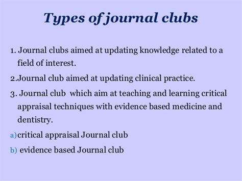 How To Present A Journal Club Journal Club Template Ppt