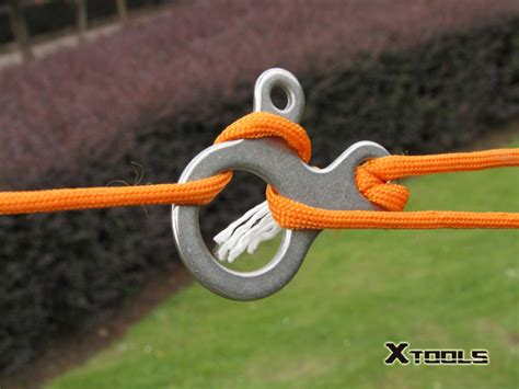 Xtools Carabiner Outdoor Equipment 3 Tying Tool Alat Bantu Tali edc gear multifunction outdoor equipment tool stainless steel carabiner button c fast knot