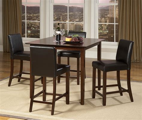weitzman dining room set table square counter walnut