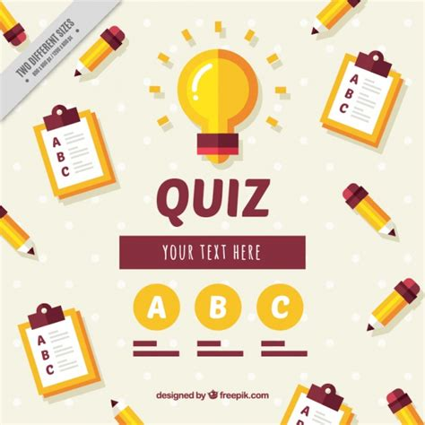 design quiz background of test elements in flat design vector free
