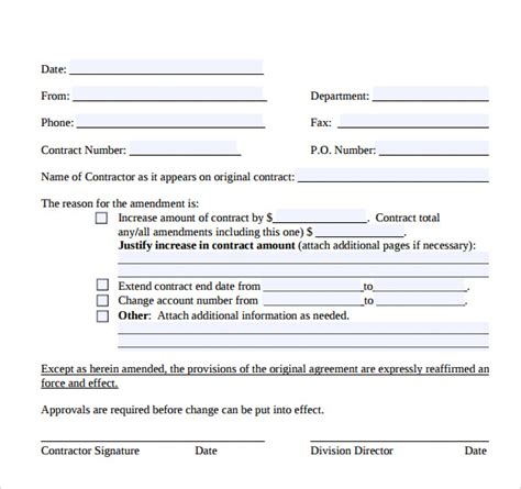 Standard Contractual Clauses Gdpr Template 10 Contract Amendment Templates Free Sles Exles Format Sle Templates