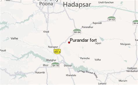 fort location map purandar fort mountain information