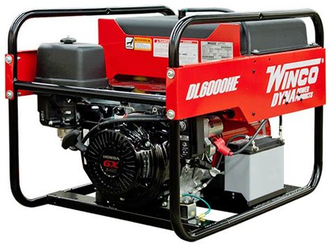 winco 6kw portable electric generator dl6000he consumer