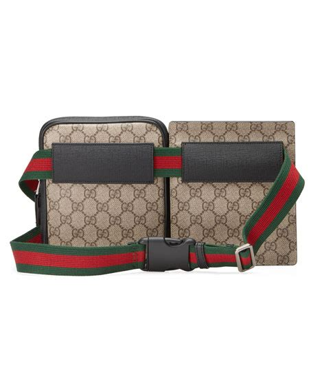 supreme web store gucci gg supreme web belt bag beige