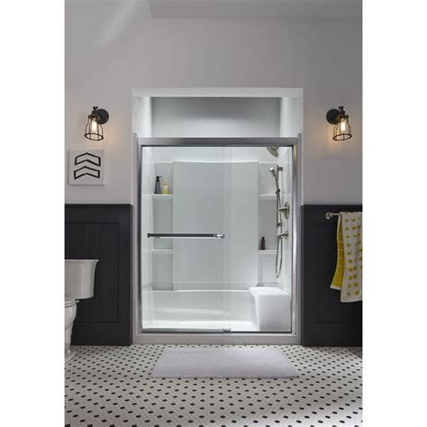 How To Install Sterling Shower Door Sterling Meritor 54 375 In To 59 375 In W X 69 713 In H Frameless Sliding Shower Door 581075 59n