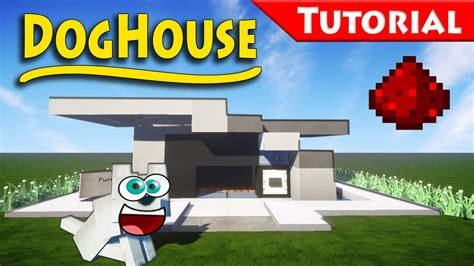 how to design a modern the doghouse you always wanted minecraft how to build