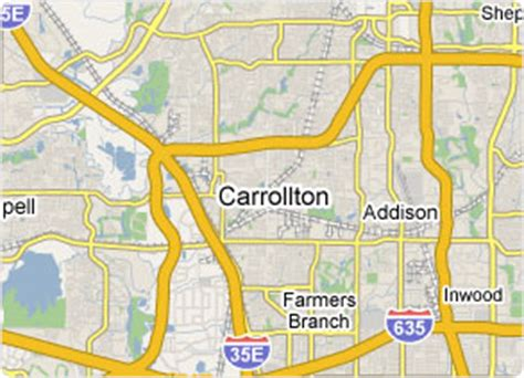 map of carrollton texas carrollton texas map