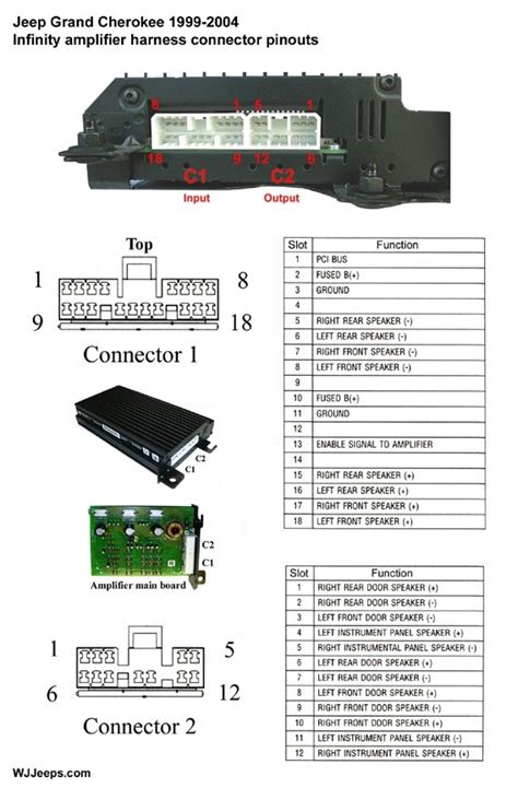 1999 jeep grand infinity stereo wiring diagram