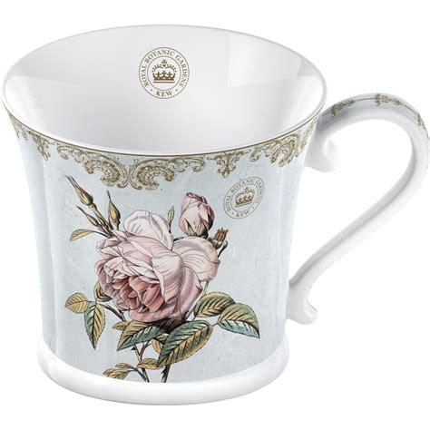royal botanical gardens kew mug collection mug chintz shabby chic blue rose louis potts