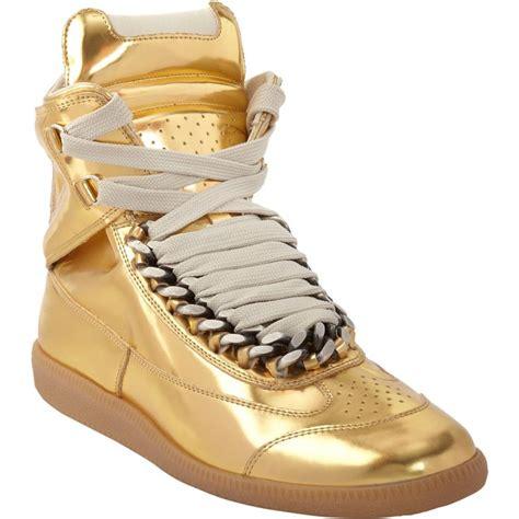 margiela sneakers gold maison martin margiela chain sneaker at barneys